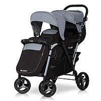 Прогулочная коляска для двойни EasyGo Fusion Duo Grey Fox