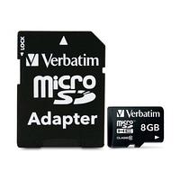 Карта памяти Verbatim 8 GB microSDHC class 10 + SD Adapter