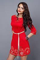 Платье женское модель №245-1, размер 44,46,48,50 красное (А.Н.Г.)