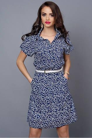 Летнее шифоновое платье с узором, фото 2