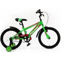 Велосипед детский спортивный  Tilly Trike, FLASH 18 дюймов зеленый с красным