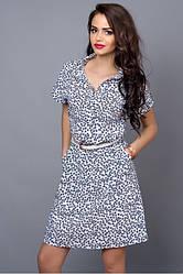 Летнее шифоновое платье с узором