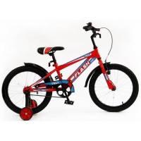Велосипед детский спортивный  Tilly Trike, FLASH 18 дюймов синий с красным