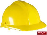 Каска строительная промышленная REIS (RAWPOL) Польша из материала ABS желтая KAS Y