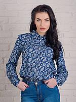 Отличная молодежная джинсовая рубашка с прикольным принтом, фото 1