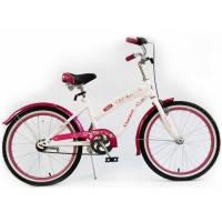 Велосипед детский спортивный  Tilly Trike, FLASH 20 дюймов белый с розовым