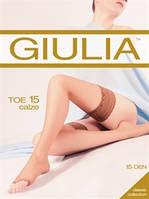 Тонкие матовые чулки с отрытыми пальцами Giulia TOE 15