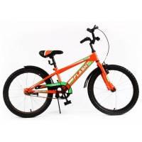 Велосипед детский спортивный  Tilly Trike, FLASH 20 дюймов оранжевый с зеленым