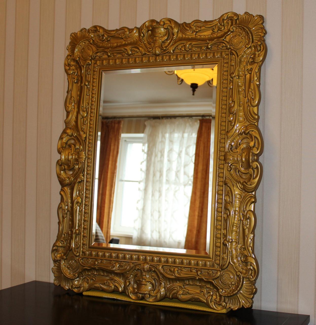 Код М-005.2. Зеркало в деревянной резной раме в классическом стиле, фото 1