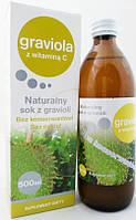 Лечебный Сок Гравиолы (гуанабаны) против рака и для щитовидки. Экстракт