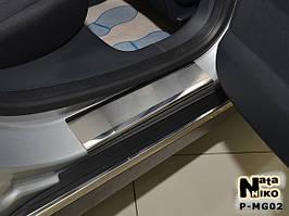 Накладки на пороги Premium MG 550 2012-