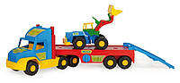 Іграшкова євакуатор Super Track з трактором Wader 36520