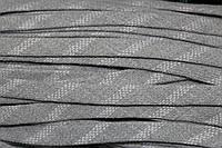 Шнур плоский 15мм акрил (50м) св.серый+белый, фото 1
