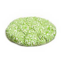 Подушка на стул круглая Фреска-Олива D-40см