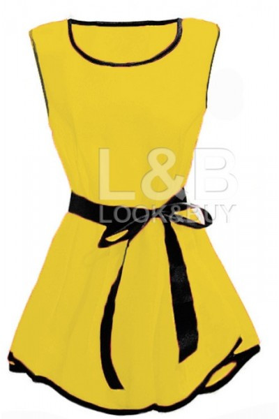 "Блузка без рукава ""ZARA"" желтая"