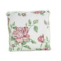 "Подушка декоративная  ""large pink Rose""с кружевом 40х40 см"