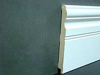 Плинтус мдф широкий белый  16*145*2800 мм