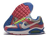 Кроссовки женские Nike Air Max серые с синим и розовым (найк эир макс)