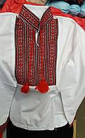 """Детская рубашка для мальчика """"Вышиванка"""" (красный)"""