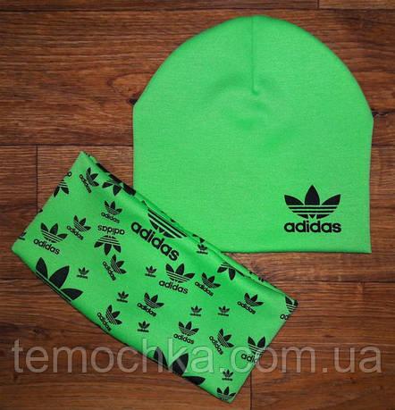 Детская шапочка + хомут. Adidas.