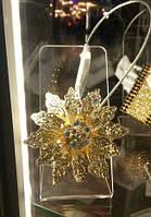 Магнитный подхват-держатель для штор в виде Цветка с камнями