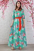 Длинное платье горловина платья украшена вырезом капелька
