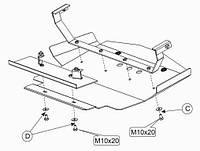 Защита двигателя Кольчуга для Mercedes E-class W124 1984-1997 Сталь 2 мм.