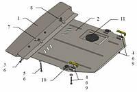Защита двигателя Кольчуга для Mercedes Vito W638 V-2,2 СDI МКПП 1995-2003 Сталь 2 мм.