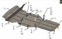 Защита двигателя Кольчуга для Audi Q7 2006- Цинкo-полимерный композит ZiPoFlex®
