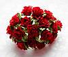Розы Красные 2 см диаметр Декоративный букетик 10 шт/уп