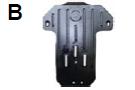 Защита коробки LEXUS GS300 v-3,0 Задний привод  с-2005 г.