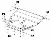 Защита двигателя Кольчуга для Honda Accord 1993-1998 Сталь 2 мм.