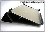 Черный кожаный чехол-книжка TF Case для планшета Lenovo Tab 2 A7-10/ A7-10F, фото 2