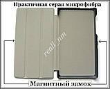Черный кожаный чехол-книжка TF Case для планшета Lenovo Tab 2 A7-10/ A7-10F, фото 5