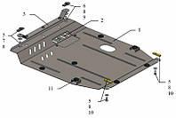 Защита двигателя Кольчуга для Jeep Compass 2011- Сталь 2 мм.