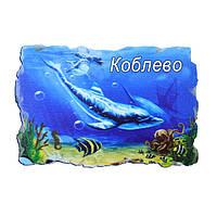 """Магнит из искусственного камня №1 """"Стая дельфинов"""" Коблево"""