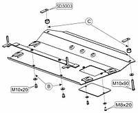 Защита двигателя Кольчуга для Lexus ES300 2002-2006 Сталь 2 мм.