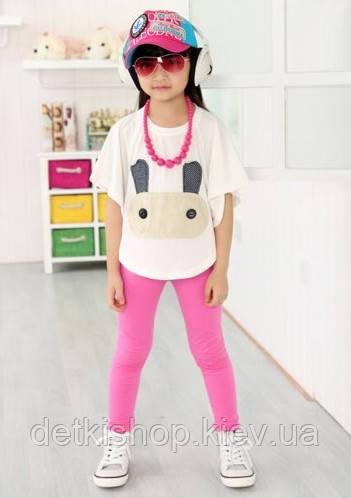 Детские леггинсы H&M (малиновые)