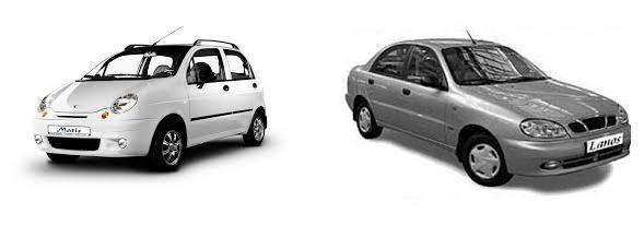 Запчасти для автомобилей Daewoo ЗАЗ Ланос (Lanos), Сенс (Sens), Matiz