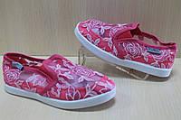 Малиновые слипоны детские, мокасины сеточка, текстильная обувь р.25,26,28,29,30