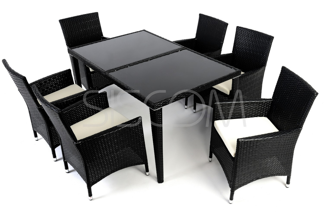 Комплект мебели из техноротанга VERONA, стол + 6шт стульев