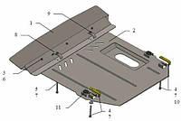 Защита двигателя Кольчуга для Mercedes Vito W638 V-2,2 СDI АКПП 1995-2003 Сталь 2 мм.