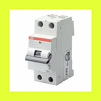 Дифференциальный автомат DS201 C16 AC30 ABB 16A 30мА AC 2-полюсный