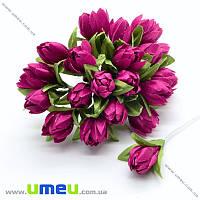 Тюльпан тканевый, 10 мм, Малиновый, 1 шт (DIF-015478)