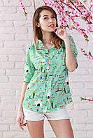 Красивая и стильная рубашка из шелк-шифона