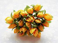 Подснежники Оранжевые 1.5 см диаметр Декоративный букетик 10 шт/уп