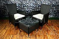 Комплект мебели из техноротанга BELLA , стол + 2шт стульев
