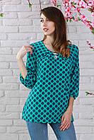 Модная летняя блуза из креп-шифона полубатальных размеров ярких расцветок