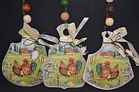"""Петухи и куры, подвеска """"Досточки"""", h около 15 см, 45/55 (цена за 1 шт. + 10 гр.)"""