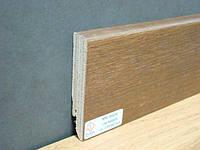 Плинтус деревянный шпонированный Тратлайн Дуб Маррон коричневый лак  82*16*2400 мм